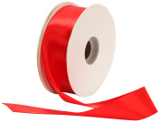 Offray Single Face Satin Craft 3.8cm by 50-Yard Ribbon Spool, Red
