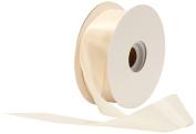 Offray Single Face Satin Craft 3.8cm by 50-Yard Ribbon Spool, Ivory