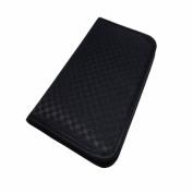 NaRaYa Handmade Ladies Purse Soft Wallet Black Silk Satin Fabric