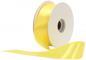 Offray Single Face Satin Craft 3.8cm by 50-Yard Ribbon Spool, Lemon