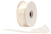 Offray Single Face Satin Craft 3.8cm by 50-Yard Ribbon Spool, Antique White