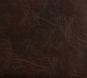140cm G491 Brown, Distressed Leather Look Upholstery Grade Recycled Leather (Bonded Leather) By The Yard