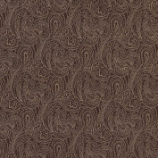 140cm B630 Brown, Paisley Jacquard Upholstery Fabric By The Yard