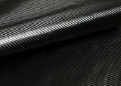 "Peel & Stick 3D Carbon Fibre Fabric - Not vinyl [Black : 50cm(19.68"") X 140cm(55.11"")] Super Flexible Self-adhesive Fabric - Made in Korea - Ship by Pantos Express."