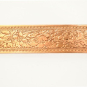 Wide Fancy Floral Copper Pattern Wire - 3 Feet