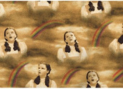 "The Wizard of Oz ""SOMEWHERE OVER THE RAINBOW"" Sewing Quilting Craft JUDY GARLAND as DOROTHY Fabric"