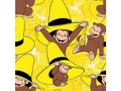 Adorable CURIOUS GEORGE GOING BANANAS FLEECE Fabric (Great for QUILTING, SEWING, CRAFT PROJECTS, THROW PILLOWS & More) 1 1/2 Yards