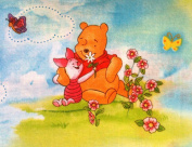 """Disney's WINNIE THE POOH & PIGLET """"WELCOME SPRING!"""" Fabric (Great for QUILTING, SEWING, CRAFT PROJECTS, THROW PILLOWS & More) 2 Yards x 110cm Wide"""