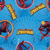 "Marvel SPIDERMAN ""CIRCLE BADGE"" Sewing Quilting Craft SPIDER SENSE Fleece Fabric"