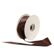 Offray Single Face Satin Craft 2.2cm by 100-Yard Ribbon Spool, Brown