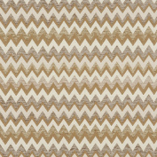 140cm Wide C244 Gold, Beige and Off White, Woven Chevron Upholstery Fabric By The Yard