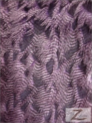 FEATHER FAUX FUR FABRIC - PURPLE - LONG PILE 150cm SOLD BTY