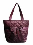 NaRaYa Handmade Shoulder Bag (Purple) Satin with Sweet Ribbon