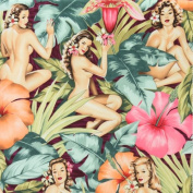 Mirage on Garnet Red Pin Up Girls Fabric Three Yards (2.7m) 7212BRR