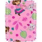 Creative Cuts Microfiber No Sew Throw Kit, Nickelodeon Dora Fall Fun, Pink