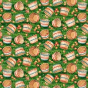 "AN APPLE A DAY ""A Bushel Basket Full of Fun!"" Fabric (Great For Quilting, Throw Pillows, Sewing, Craft Projects, Wall Hangings, and More) 2 Yards x 110cm"