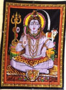 Cloth Print of Lord Shiva 80cm X 110cm
