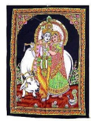 Cloth Print of Radha Krishna 80cm X 110cm