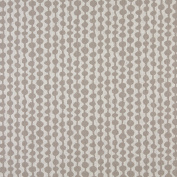 140cm Wide K0010F Grey and Off White, Circle Striped, Designer Quality Upholstery Fabric By The Yard