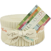 Moda Bella Solids Natural 9900-12 Jelly Roll Quilt Strips