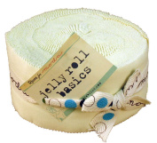 Bella Solids Snow Jelly Roll for Moda 6.4cm Fabric Strips