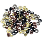 100pc 0.5cm Metal Eyelets Shoes Clothes Crafts - 4 Colours