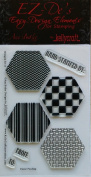 KellyCraft EZ-De's Hexagon Polymer Stamp, Set A