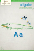 "Penguin & Fish ""Alligator"" Hand Embroidery Pattern"