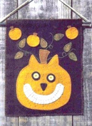 Cat Pattern - Hallow Cat - Halloween Wallhanging