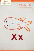 """Penguin & Fish """"X-ray Fish"""" Hand Embroidery Pattern"""
