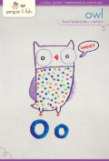 "Penguin & Fish ""Owl"" Hand Embroidery Pattern"