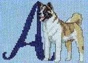 Pegasus Originals Akita Counted Cross Stitch Alphabet Kit
