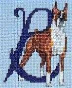 Pegasus Originals Boxer Counted Cross Stitch Alphabet Kit