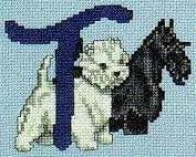 Pegasus Originals Two Terriers (Scottieand Westie) Alphabet Counted Cross Stitch Kit