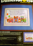 "Dimensions ""Lucy Bears"" Teddy Bear Blessing Baby Boy Nursery Cross Stitch Kit"