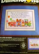 "Dimensions ""Lucy Bears"" Teddy Bear Blessing Baby Boy Nursery Cross Stitch Kit"