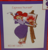 Red Hat Society Express Yourself Counted Cross Stitch