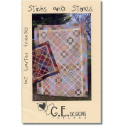 Sticks and Stones Table Quilt and Twin Quilt Pattern