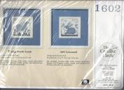 THE CREATIVE CIRCLE KIT# 1602- WOOLLY LAMB COUNTED CROSS STITCH KIT (13cm X 13cm - 14 CT. AIDA) 1989 CIRCA