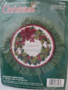 Seasons Greetings - 13cm Round Hoop Cross Stitch Kit - #33103