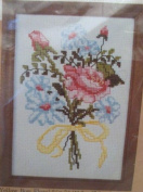 Yellow Bow Floral Cross Stitch Kit - 5 x 7