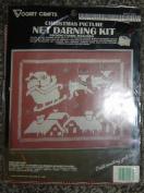Vogart Christmas Picture Net Darning Kit, Santa Picture
