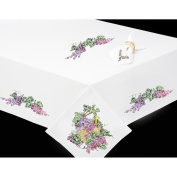 Tobin Grapes Stamped Table Runner For Embroidery