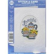 Friends Stitch-A-Card Counted Cross Stitch Kit