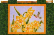 Hummingbirds & Daffodils Hand Painted Wall Quilt Pattern by Melanie Formway Chang