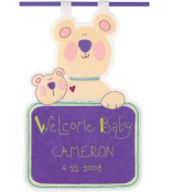 Dimensions L'il Tots Welcome Baby Birth Date Banner Felt Applique Kit
