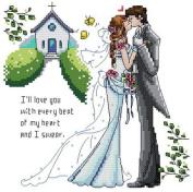 14 Counted Aida Cross Stitch Wedding Kit Kx016