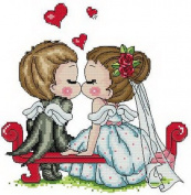 14 Counted Aida Cross Stitch Wedding Baby Kit Kk009
