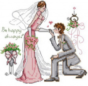 14 Counted Aida Cross Stitch Wedding Kit Kq057
