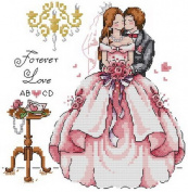 14 Counted Aida Cross Stitch Wedding Kit Kq044